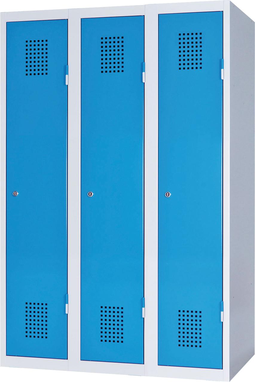Třídveřová skříň na soklu 150 x 75 x 50 cm