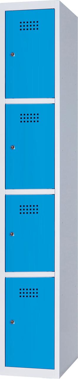 Boxová skříň na soklu, 4 boxy, 185 x 30 x 50