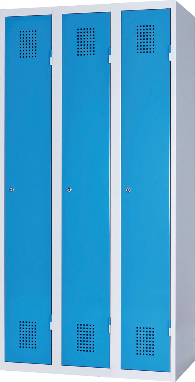 Třídveřová skříň na soklu 185 x 90 x 50 cm